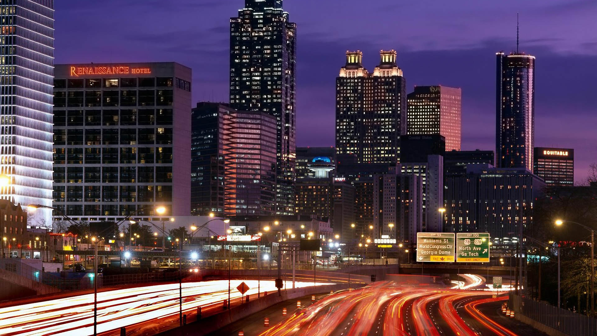 Cool Wallpaper Night Cities - Atlanta-Skyline-Timelapse-at-Night  Photograph.jpg