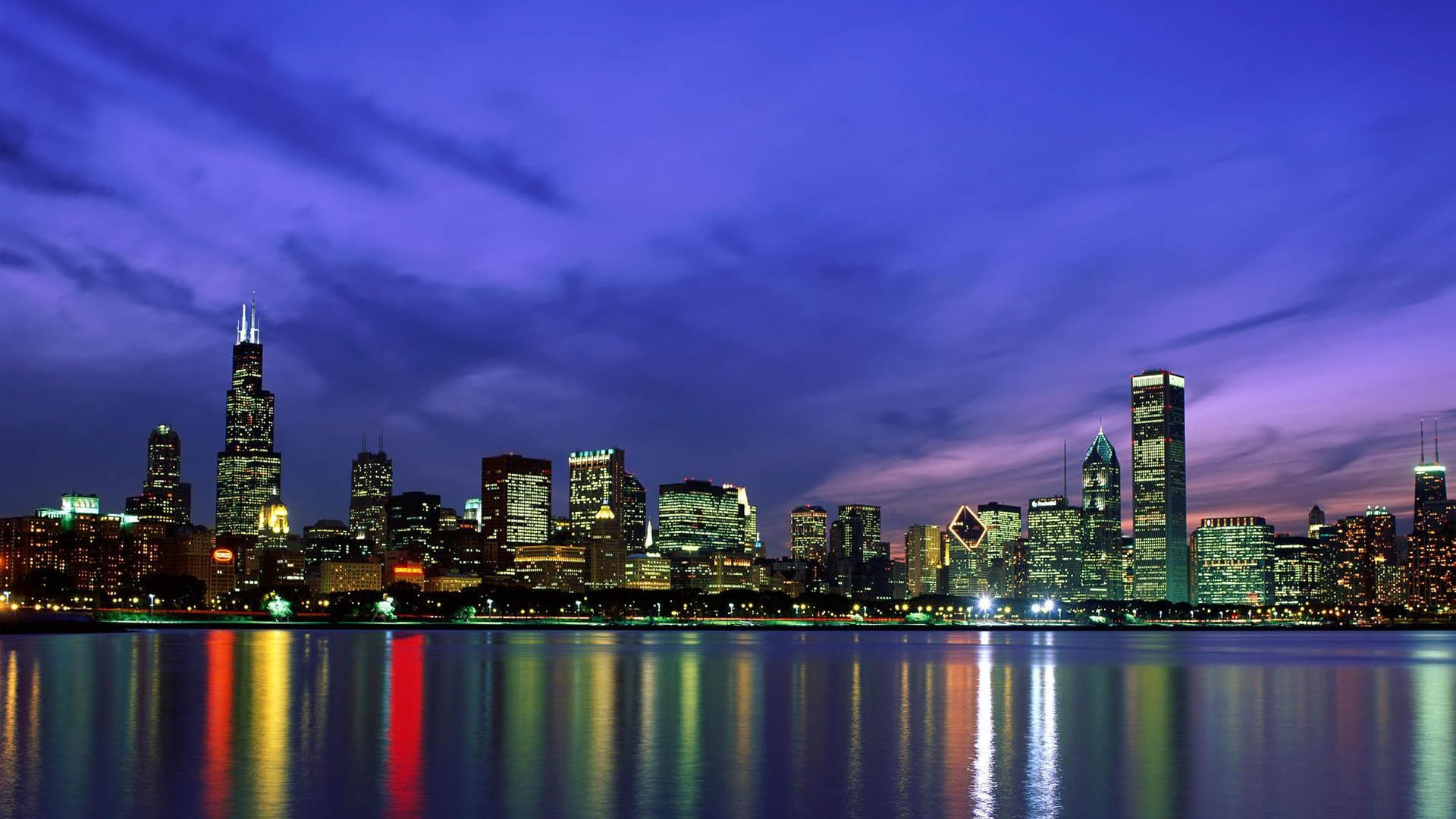 Must see Wallpaper Night Chicago - Chicago-Skyline-at-Night  Image.jpg