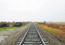Railroad Tracks Disappearing in to the Horizon