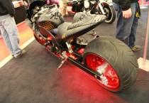 Red and Black Rockstar Custom Bike