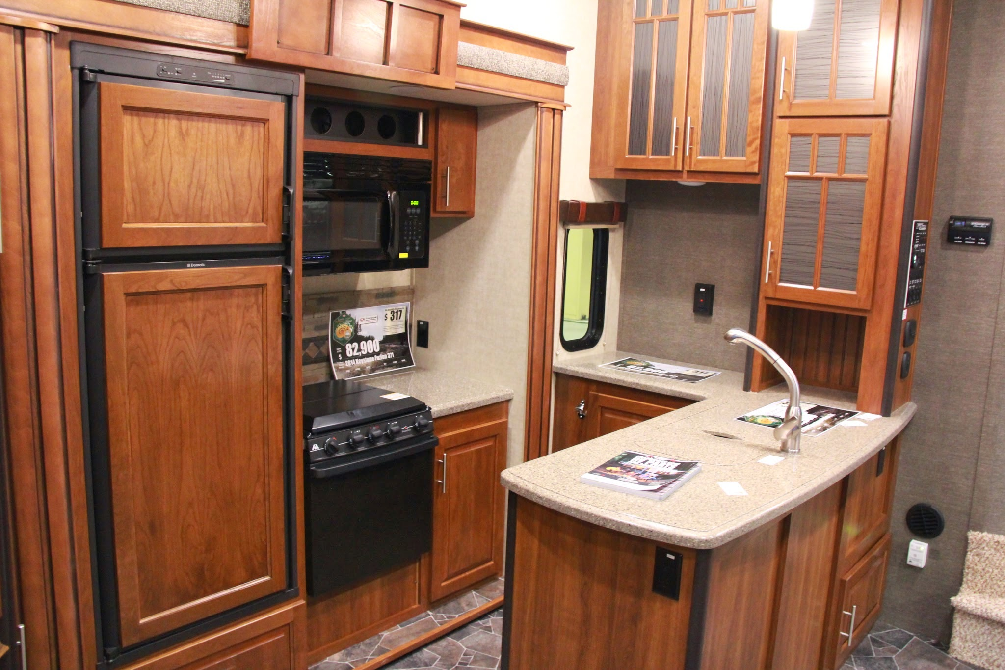 2014 keystone fuzion 371 rv kitchen lifestyle