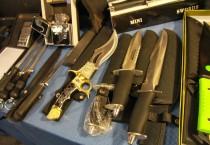 Custom Knives and Zippo Lighter