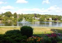 Wide Shot of Sullivan's Pond in Dartmouth, Nova Scotia