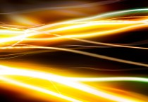 Yellow and Green Streaks of Light