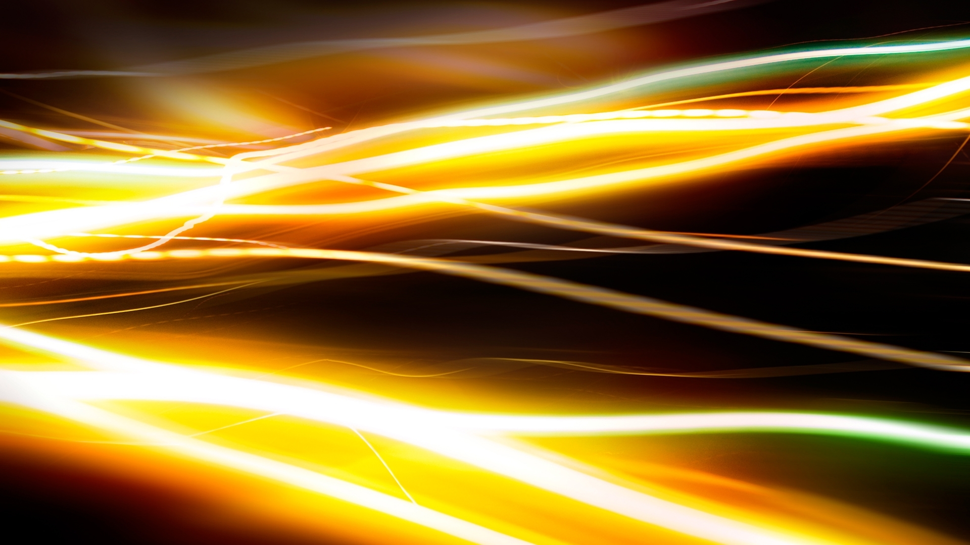 Yellow And Green Streaks Of Light Abstract
