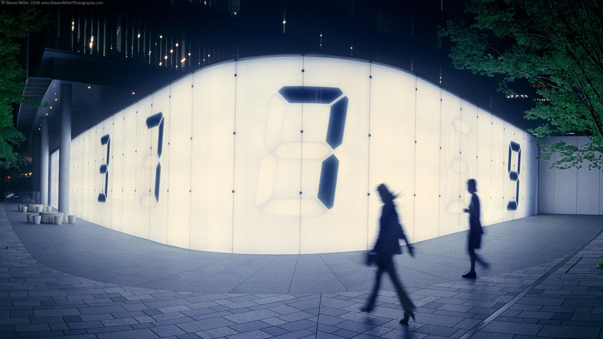 roppongi hills digital wall counter abstract