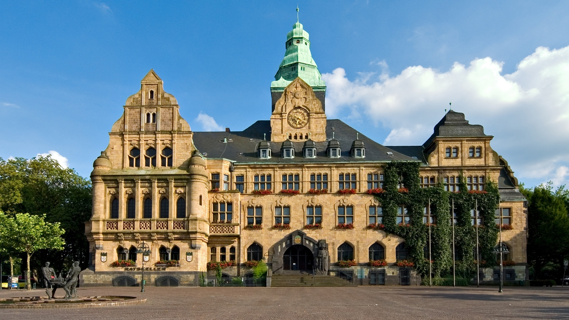 Town Hall In Recklinghausen Germany Architecture