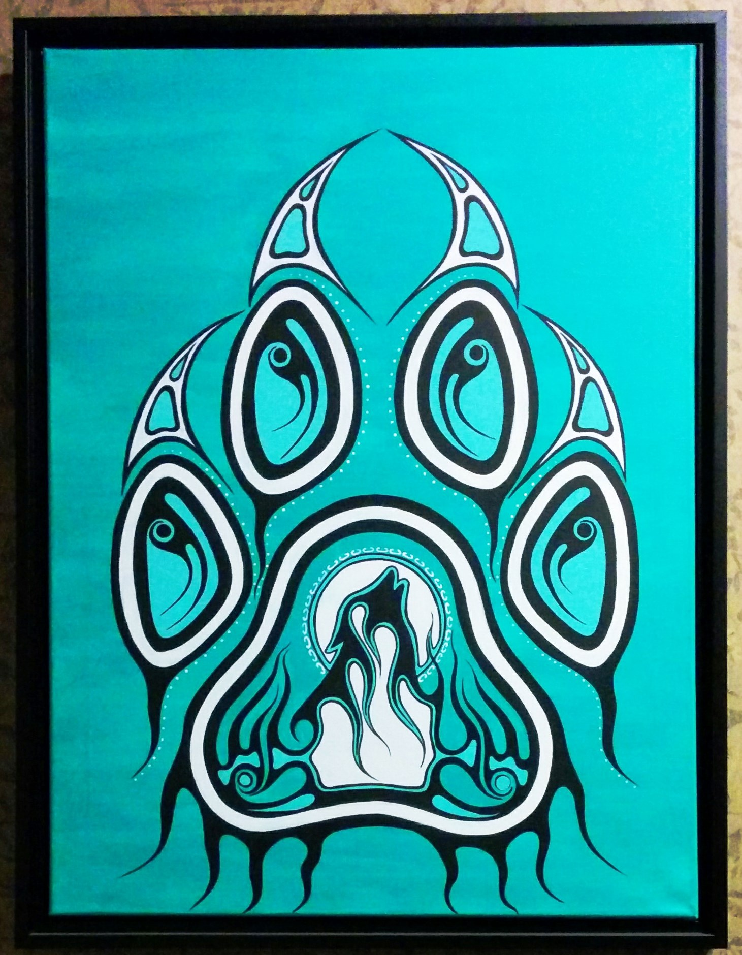Canadian Aboriginal Art Bear Paw Print
