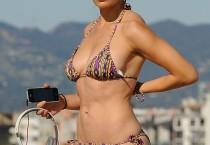 Sarah Shahi, Bikini Clad on Beach