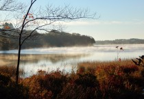 Steam Rising off The Fall Lake