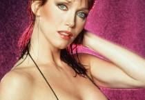 Tanya Roberts, Wet Hair in Black Bikini Top