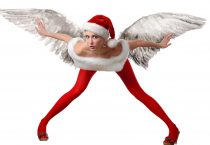 Winged Female Santa