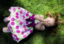Cute Baby Girl with Purple Polkadot - Cute Baby Girl with Purple Polkadot