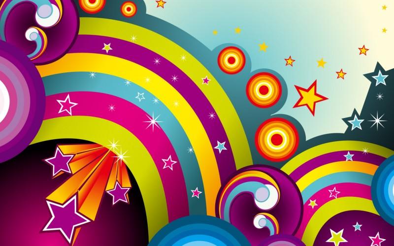 Vector Colourful Rainbow Wallpaper - Vector Colourful Rainbow Wallpaper