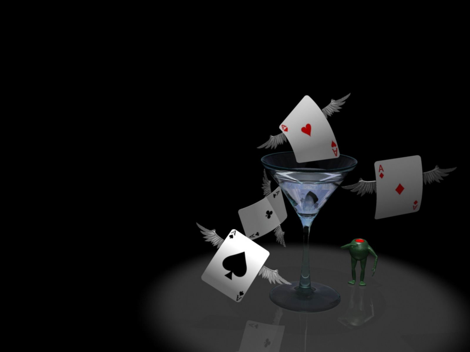 3d poker cards | digital art