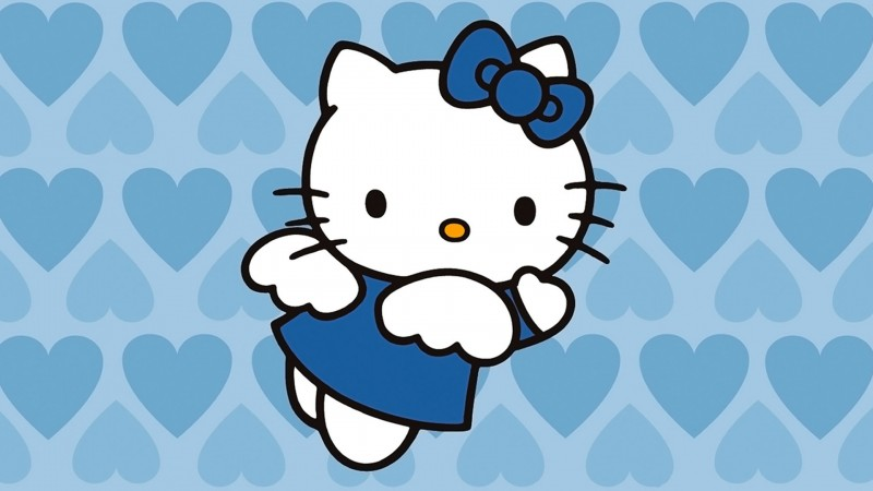 Angel Blue Hearts Hello Kitty - Angel Blue Hearts Hello Kitty
