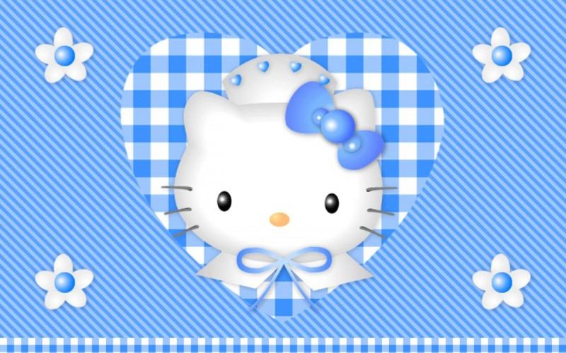 Blue Heart Hello Kitty - Blue Heart Hello Kitty