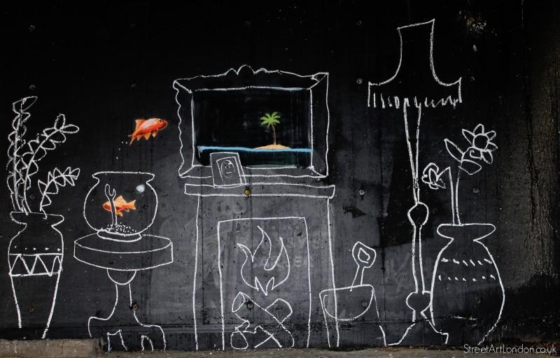 Chalk Drawing The Wall - Chalk Drawing The Wall