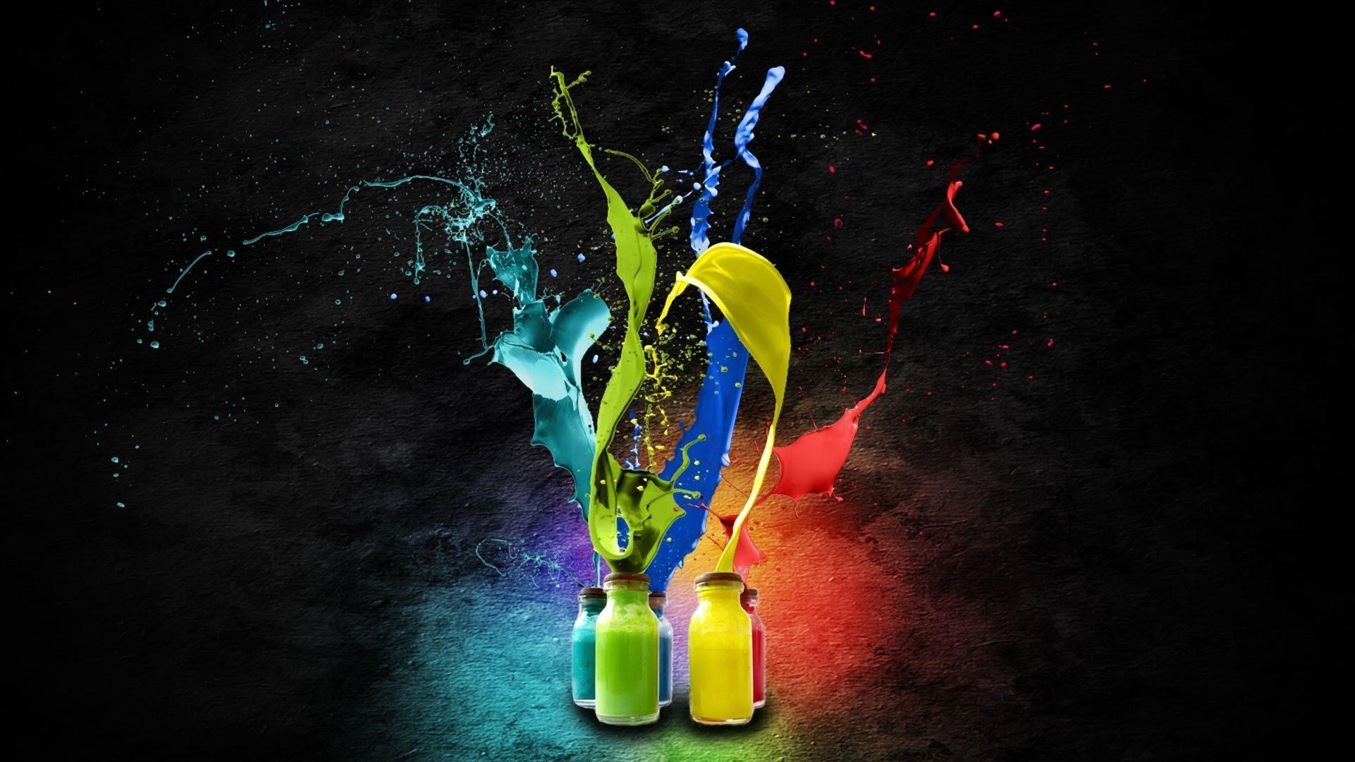 Colourful Paint Splash - Colourful Paint Splash