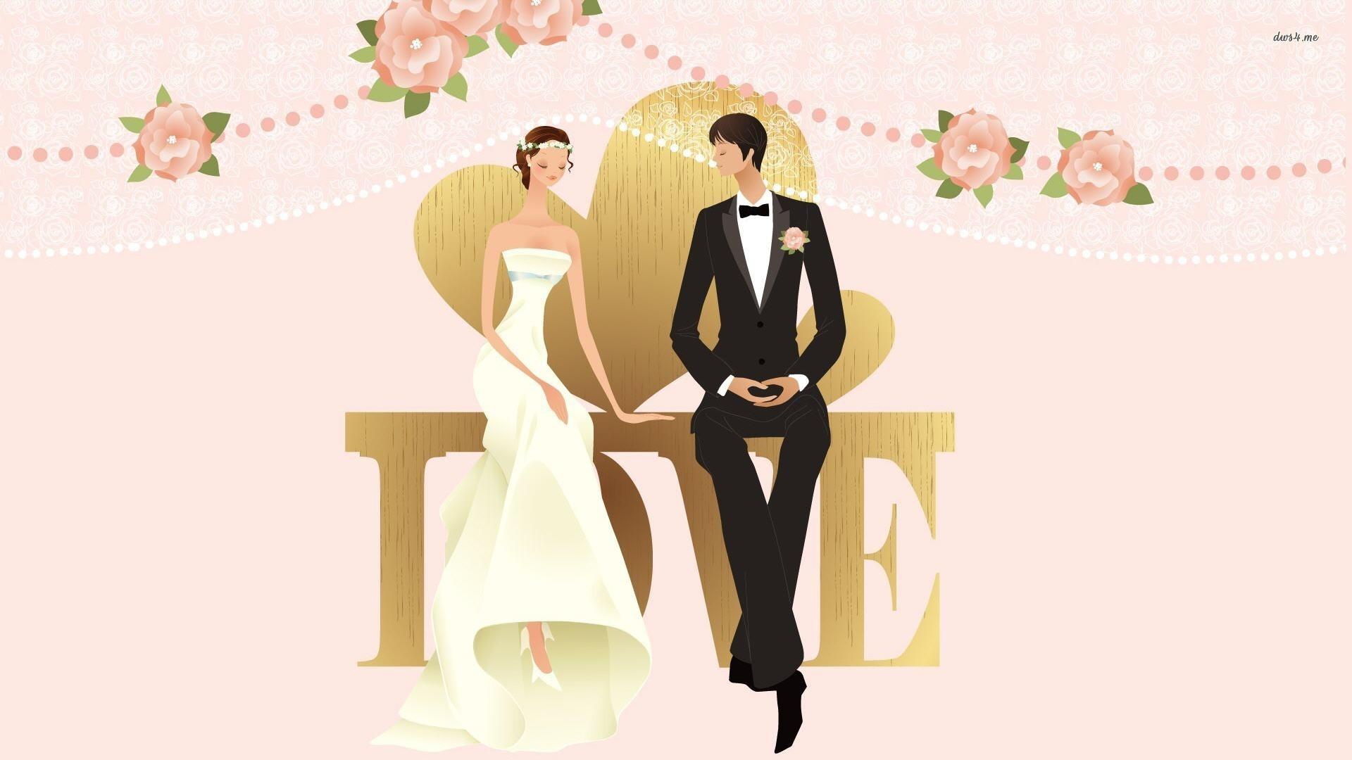 Couple Wedding Vector - Couple Wedding Vector