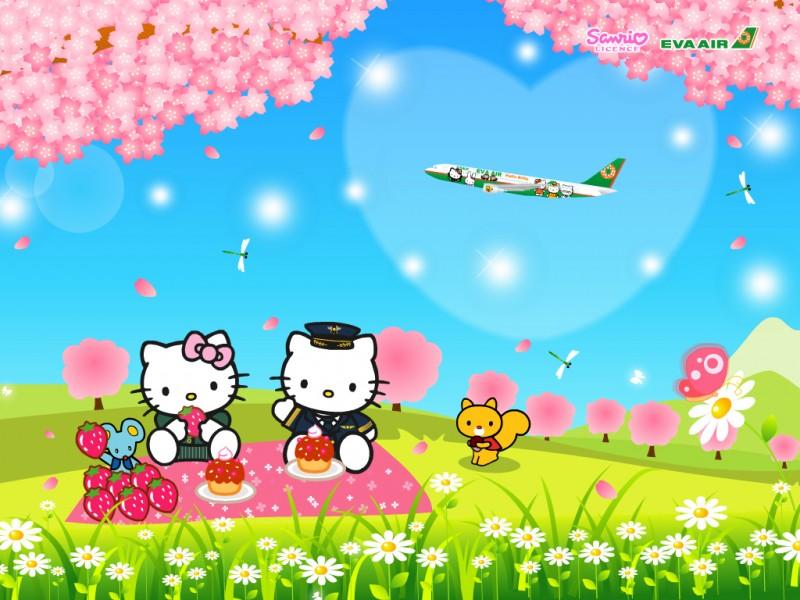 Hello Kitty On The Garden - Hello Kitty On The Garden