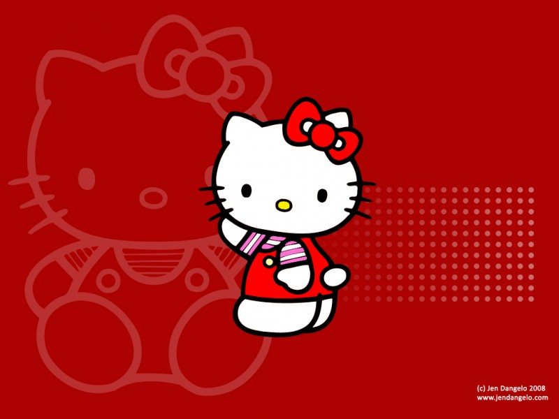 Hello Kitty Red Background - Hello Kitty Red Background