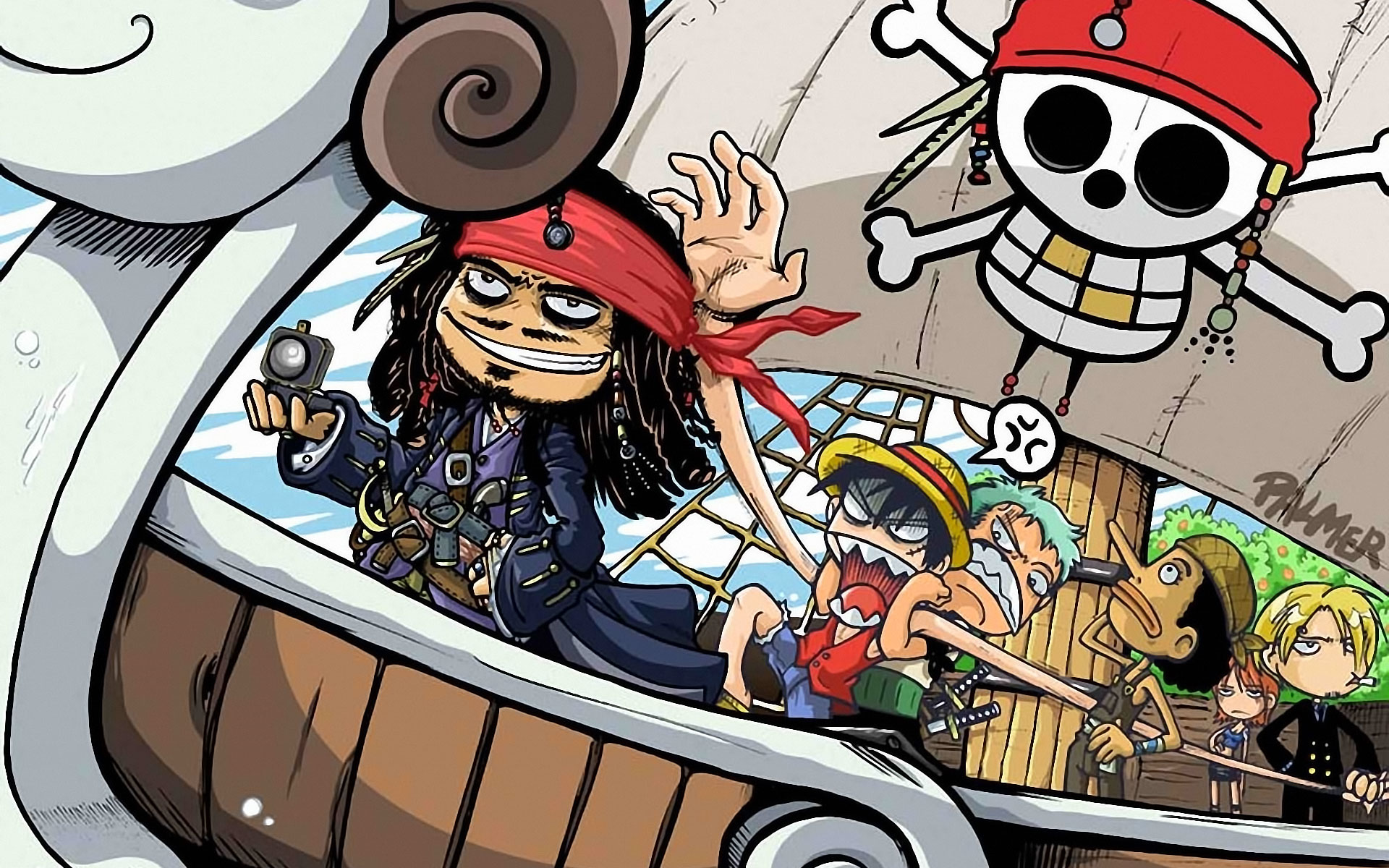 One Piece Wallpaper with Jack Sparrow - One Piece Wallpaper with Jack Sparrow