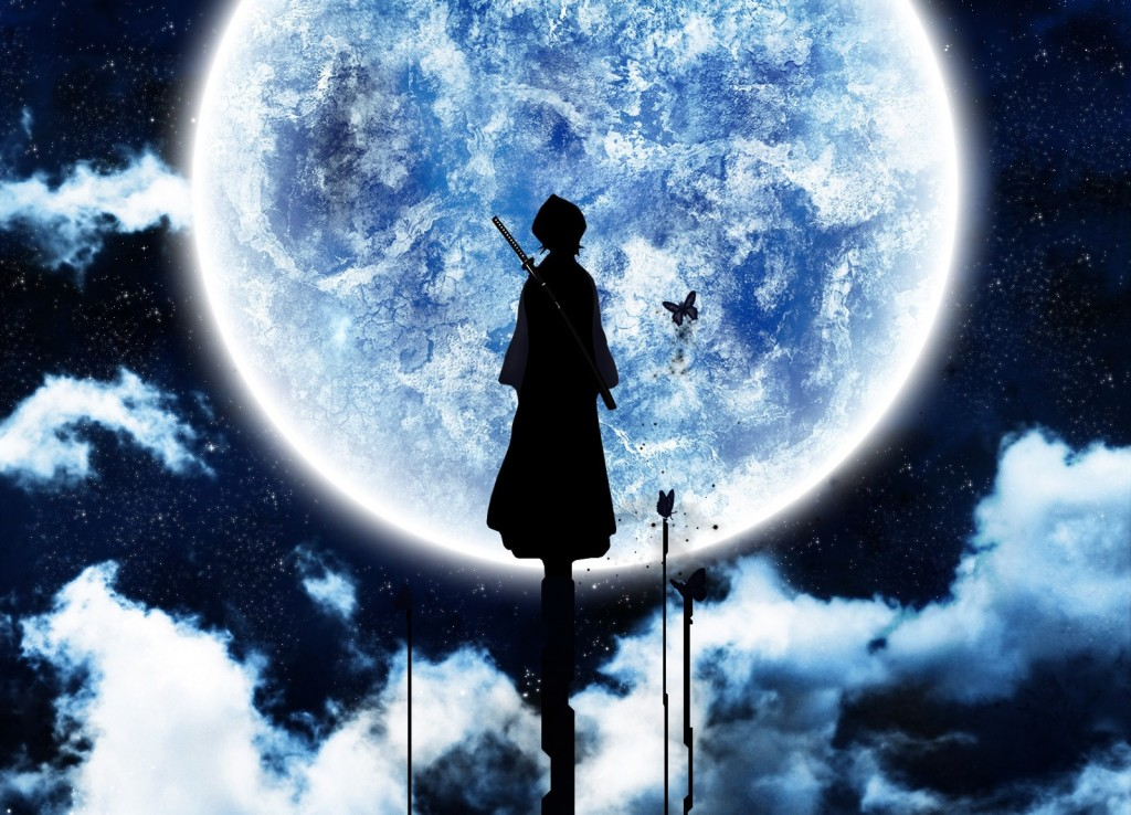 Rukia Bleach Anime Full Moon Night - Rukia Bleach Anime Full Moon Night