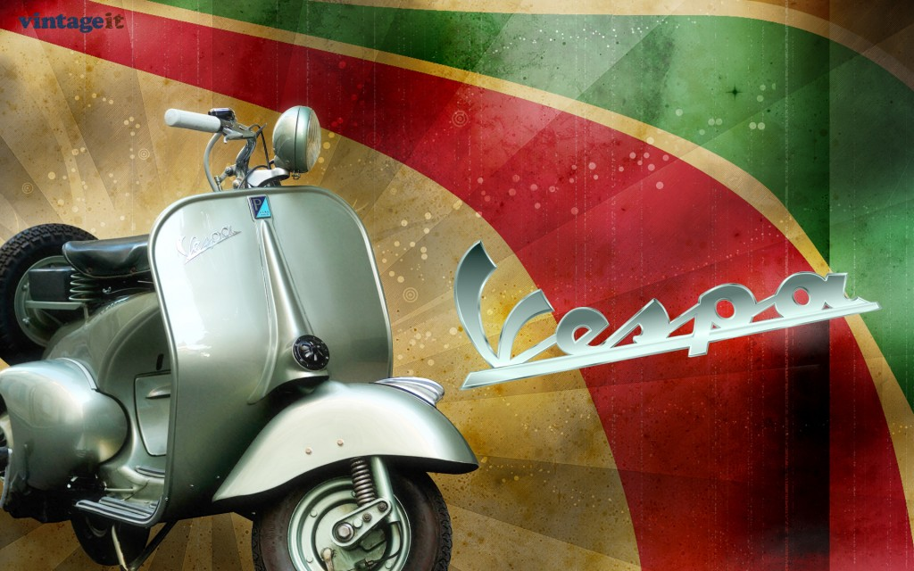 Vintage Vespa Background