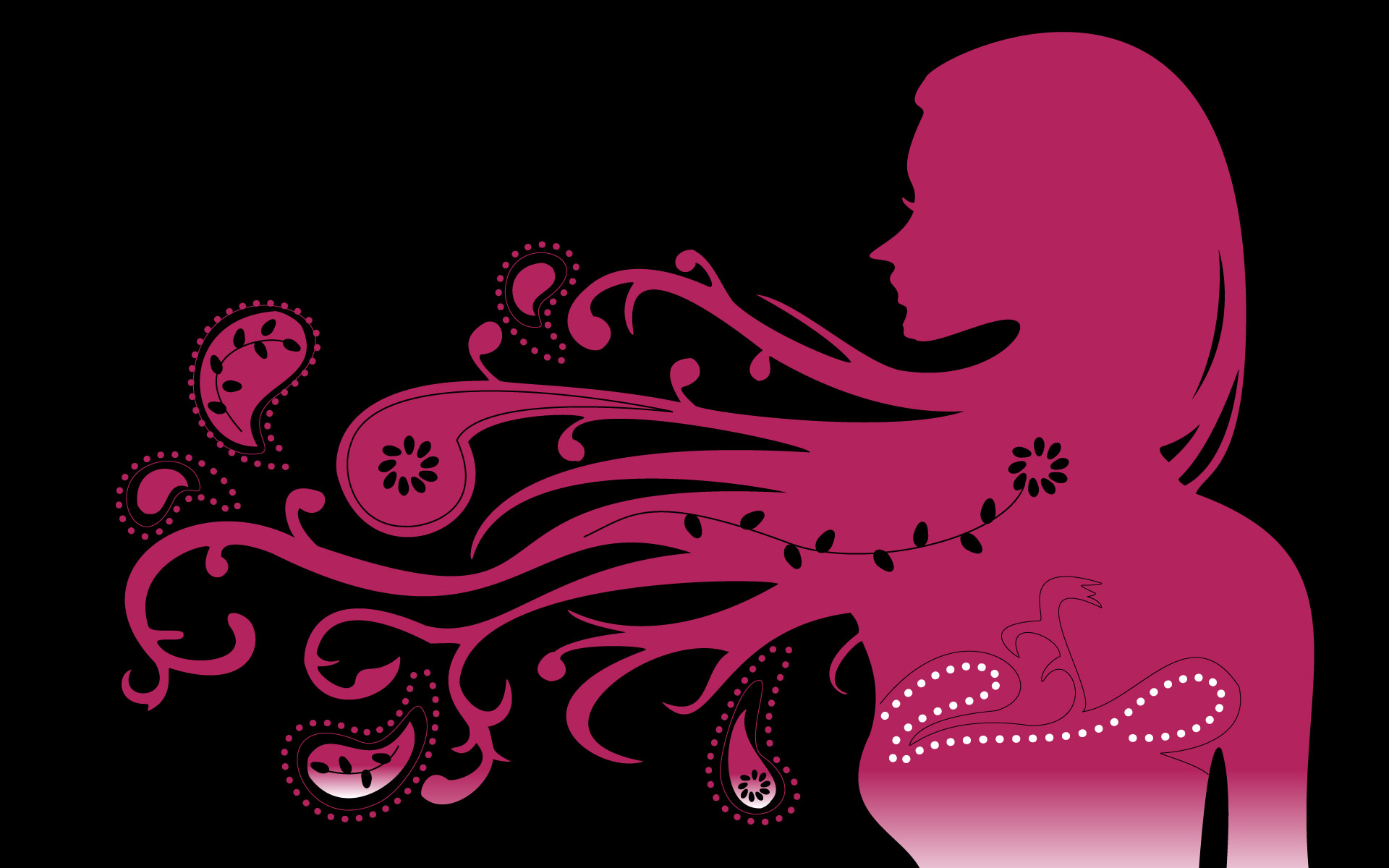 Abstract Psychedelic Girl Pink - Abstract Psychedelic Girl Pink
