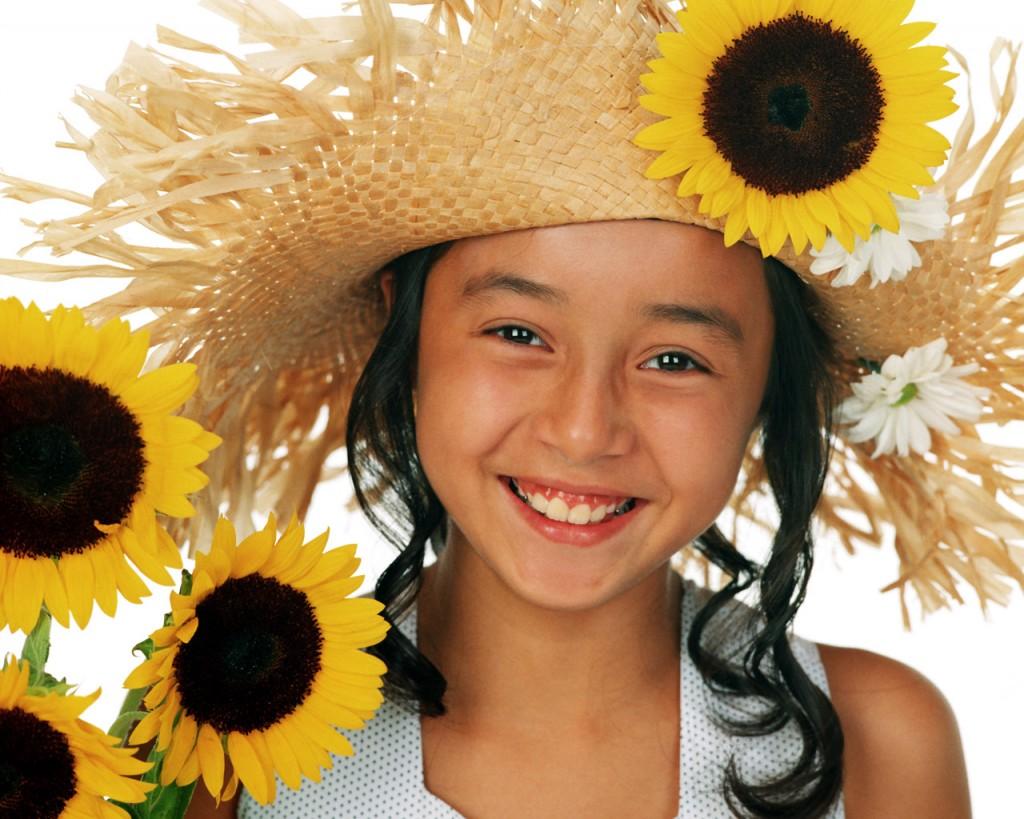 Cute Girl Sunflower Hat - Cute Girl Sunflower Hat