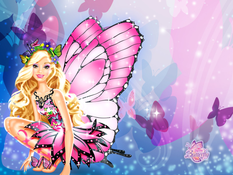 Barbie Butterfly Wallpaper - Barbie Butterfly Wallpaper