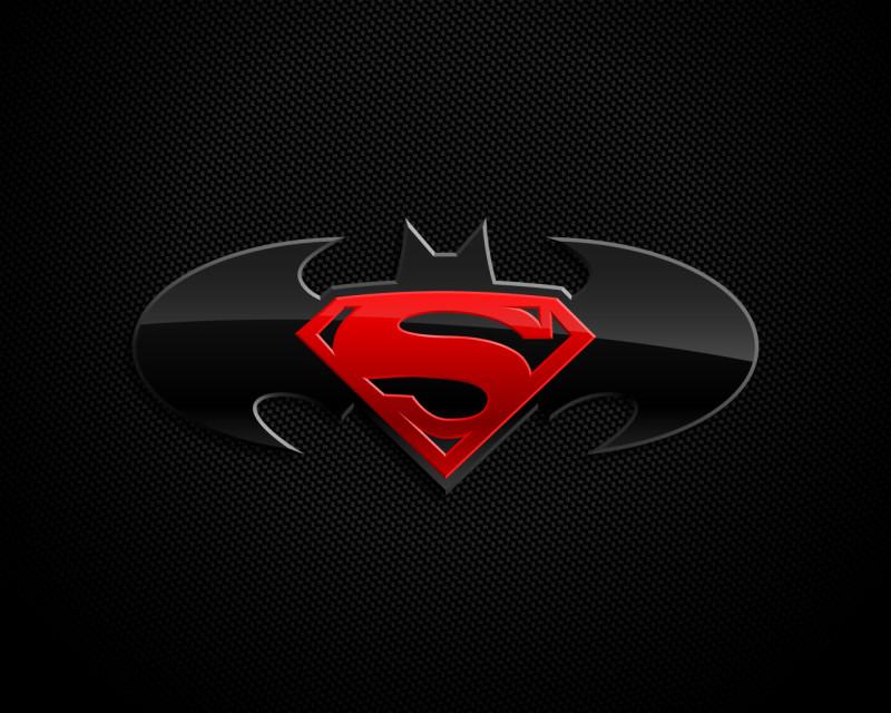 Batman With Superman Logos - Batman With Superman Logos