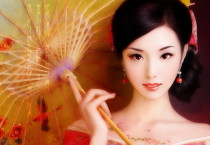 Japanese Girl Painting - Japanese Girl Painting