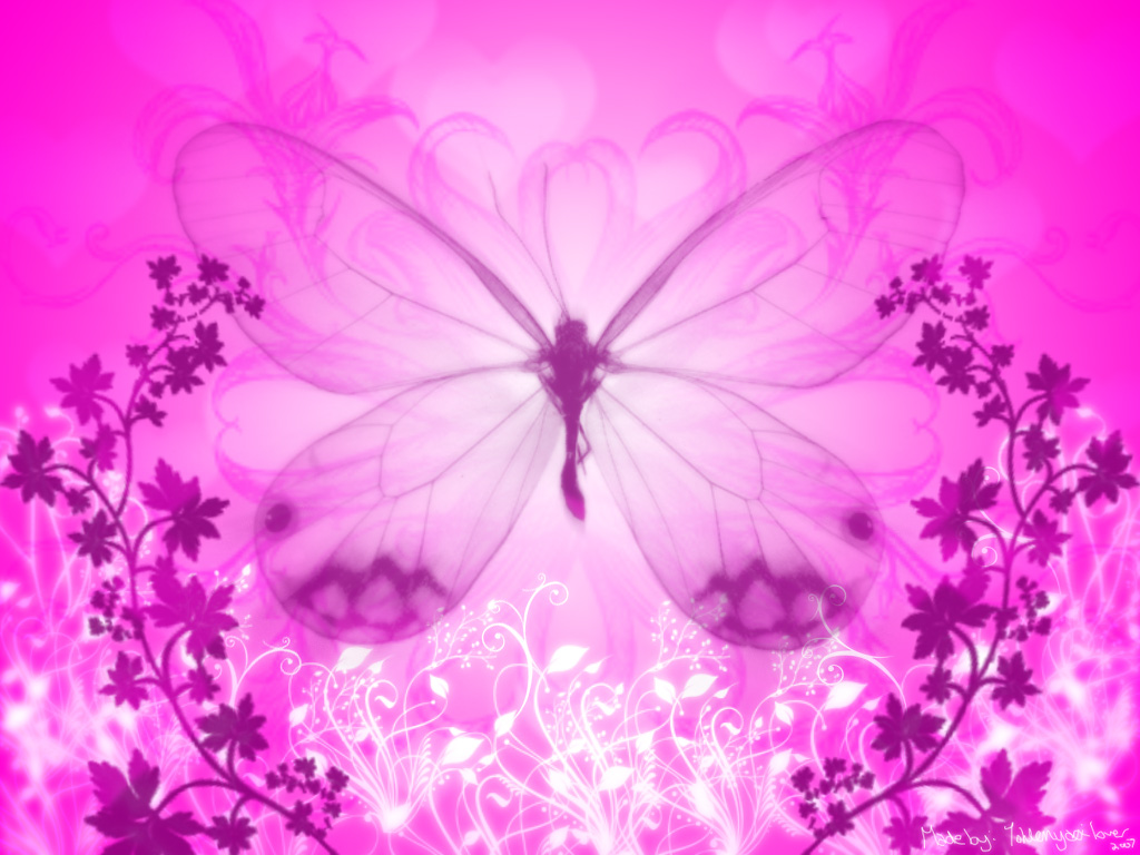 Pink Butterfly Background Animal