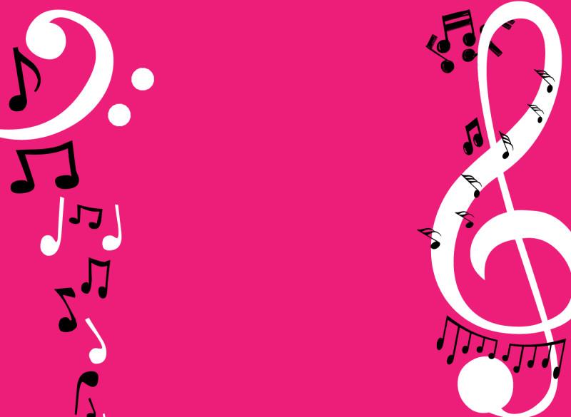 Pink Note Musics Wallpaper - Pink Note Musics Wallpaper