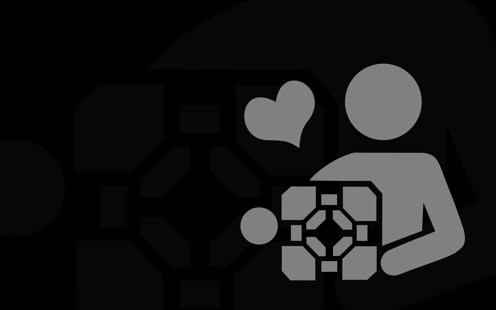Portal Companion Cube Background - Portal Companion Cube Background