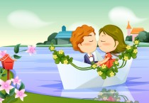 Romantic Kiss Cartoon Wallpaper - Romantic Kiss Cartoon Wallpaper