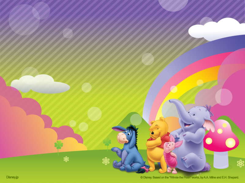 The Pooh Rainbow Wallpaper - The Pooh Rainbow Wallpaper