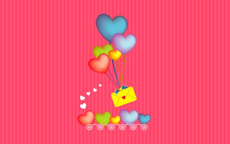 Valentine Pink Mail Background - Valentine Pink Mail Background