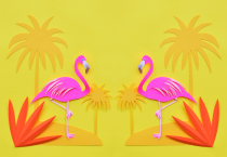 Yellow Flamingo Wallpaper - Yellow Flamingo Wallpaper