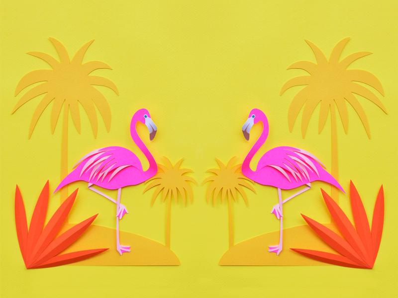 Yellow Flamingo Wallpaper - Yellow Flamingo Wallpaper