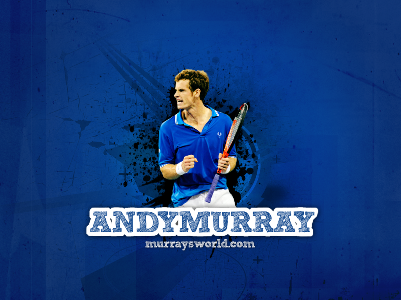 Andy Murray Blue Background - Andy Murray Blue Background