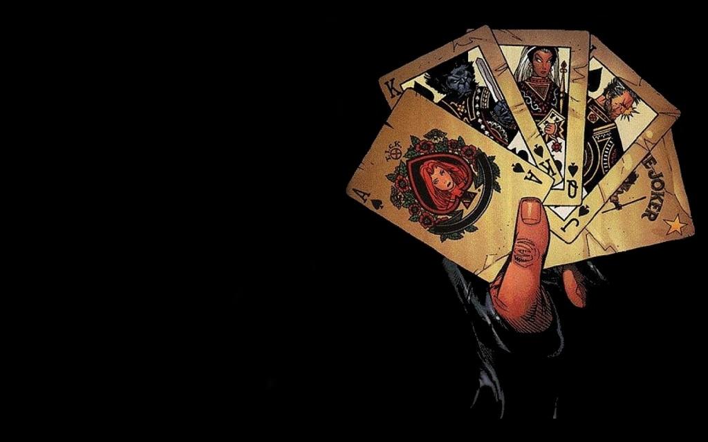 Black Poker Cards Wallpaper - Black Poker Cards Wallpaper