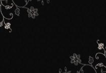 Dark Silver Flowers Backgorund - Dark Silver Flowers Backgorund