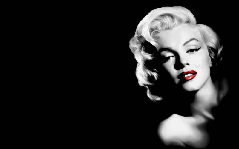 Marilyn Monroe Black Background - Marilyn Monroe Black Background