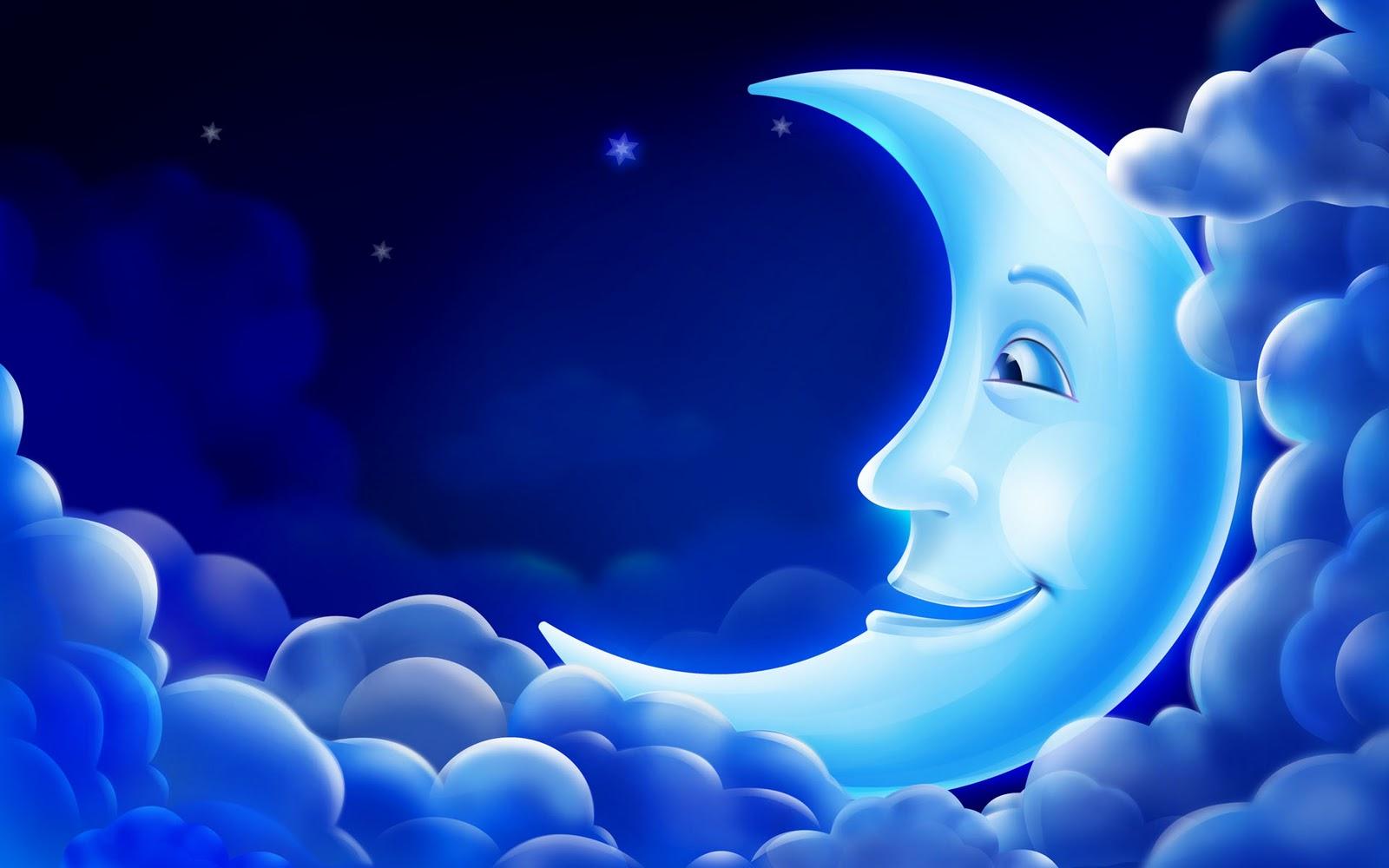 Smiles Blue Moon 3d Digital Art