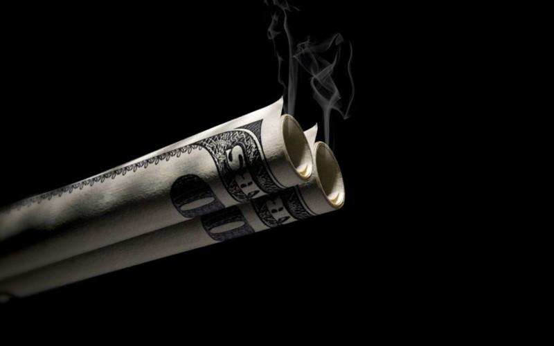 Smoking Money Wallpaper - Smoking Money Wallpaper