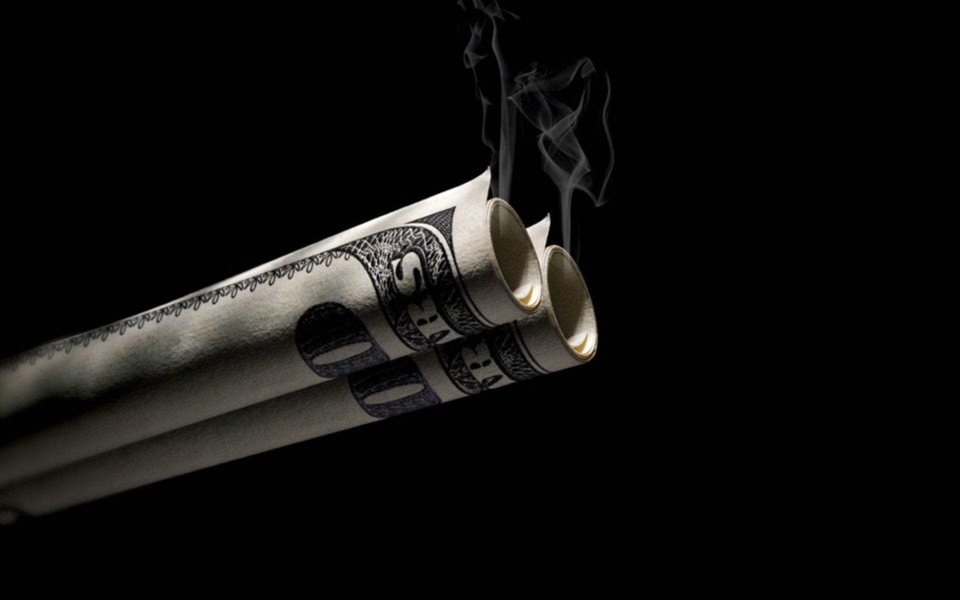 Smoking Money Wallpaper Digital Art