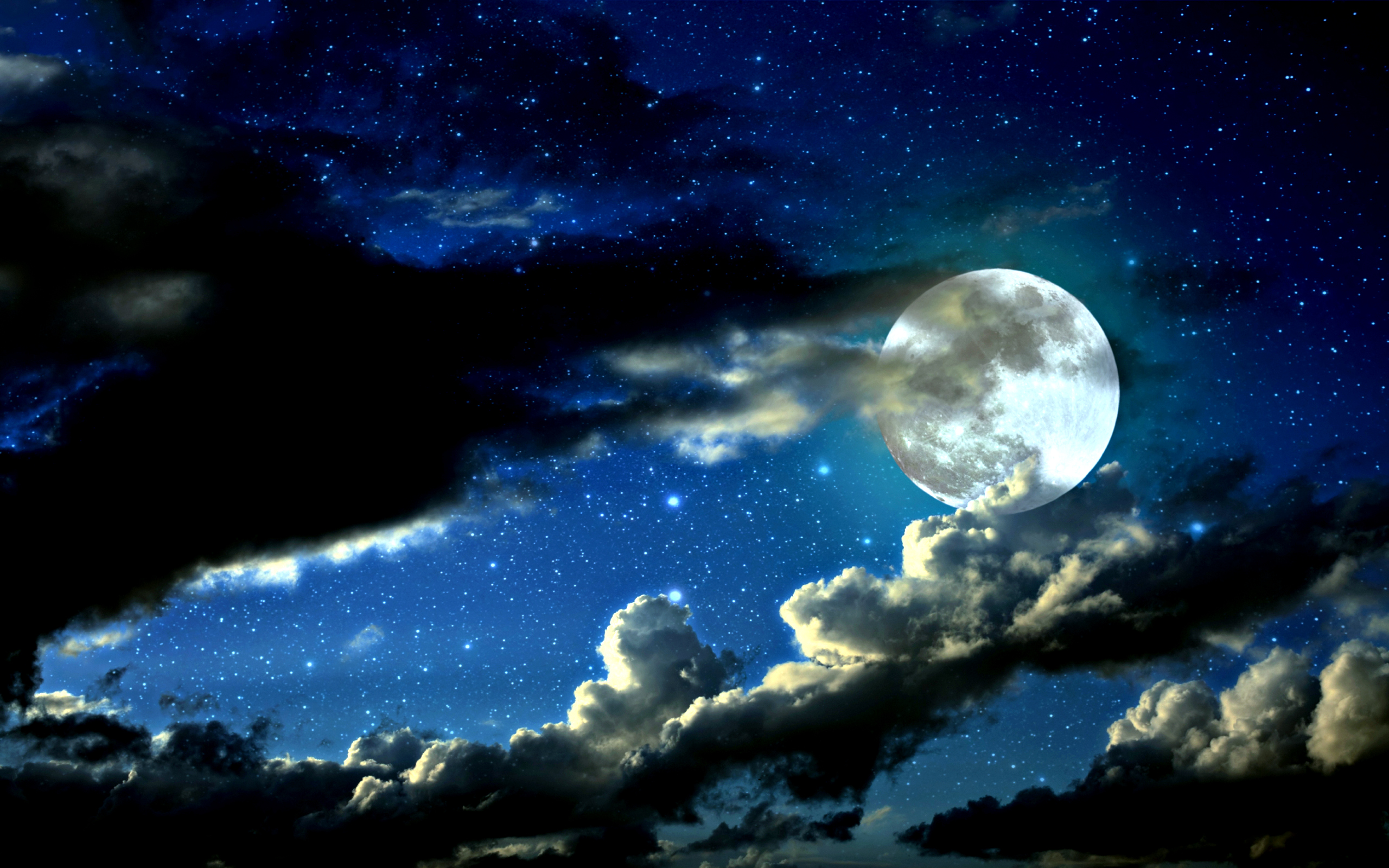Sparkling Milky Way With The Moon - Sparkling Milky Way With The Moon